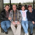 Dad's gang: Pete, Dad, Kim, Charles. October 2011