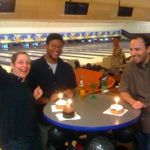 Karen in the Lucas Bowling League on her birthday!