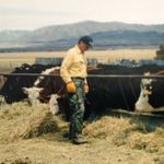 As he did every year, working out on the Ranch in Idaho, March-May.  He loved the lifestyle & culture