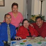 Grandma's 93rd Bday with Tio Morris and Tio Richard