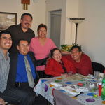 Grandma's Bday with Mom, Tio Morris, Tio Richard