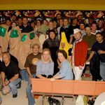 Front and Center, the heart of the Lucas Bowling League. What a teammate!