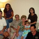 August 2010 Nana's Birthday Roy, Amy, Pa, Nana, Audrey, Kathleen, David (L-R)