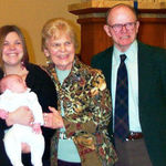 Carter's Baptism, Dad, Mom, Breanne, Carter,
