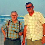 Clarence and Clarence's Father In Law /Grandpa Arnold  enjoying the sun and the sand on Florida's beaches