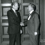 Ed Arnold, Sr. with President Gerald Ford, Arlington National Cemetery.