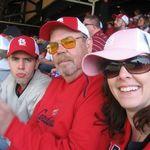 Kevin, John, and Erin at Cardinal game 2008