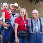 Fred, Amanda, Kiley Jo, Cash and Grandpa Ward