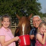 Amanda, Kiley Jo and Grandpa