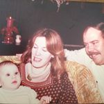 Christmas 1977. John and Joan and baby Erin
