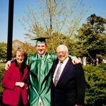 Grandma, John and Grandpa Ward - Johns MSU Grad