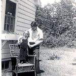Glen and George at the little house on Eagle Lake Rd in Bar Harbor,Maine summer of 1946 or 47