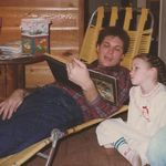 Taylor and Uncle Gary Reading about Baby Jesus ~ Christmas ~ 1984