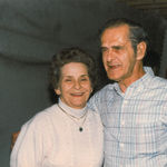 Austin and Rosella at Austin's 70th birthday party, c. 1987