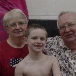 Grandpa and Busia with Brett