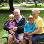 Grandpa and Busia with Kelly and Felicity