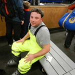 Mike taking a ski trip.