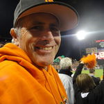 Steve at the Giants game with a big SMILE on his face