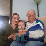 Grandpa with Katy (Granddaughter) and Lou (Great Grandson)