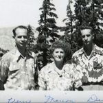 Dick and his parents, Verne and Marion at Crater Lake.