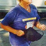 Finishing a 10K run at age 75, Honolulu