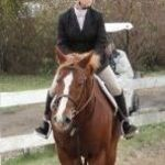 Tori riding at Merrymount Equestrian Center in the Adult Team league, Nov. 20, 2011.