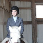 Tori riding at Willowbend Farm in the National Captial Adult Equestrian League, Jan 8, 2012.