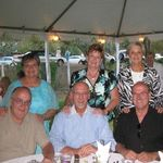 with good friends, the Simpsons and the Mehoks at Diane Gremillion's wedding in August 2012