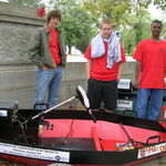 Kyle and his Team at the 2010 SNAME Boat Design Challenge