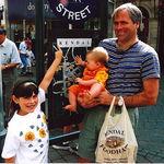 Steve, Justine, Kendall in Kendal, England, 1998
