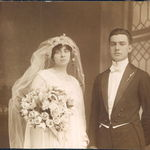 Wedding of Rose's parents Frank Rumore and Josephine Licari on September 11, 1916 [also the bride's birthday]