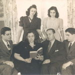 The Rumore Family--from left Rose's brother Roy, mother Josephine, Rose, father Frank, sister Provie [Providence] and brother Joe
