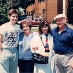 circa 1988--from left Brian, Rose, Laurie and Ronnie