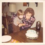 Morgan Manor apartment in Glenbrook--Grandma Rose and Brian in 1973 on Brian's 3rd birthday