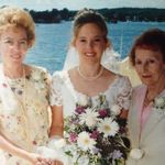 At the July 2000 wedding of granddaughter Barbara with daughter Sandra Toumbacaris.