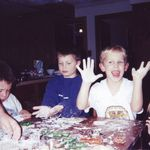 Kyle making cookies with Macon & Casey (2000)