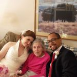 With her granddaughter Erin and her husband Max on their wedding day, June 9, 2012
