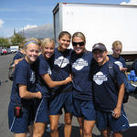 Jen and her BYU soccer  friends