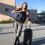 Jen enjoying the moment  BYU soccer trip