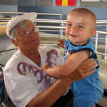 July 2012, Sandy and her Great-Grandson Tatum in Disney World.
