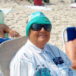 September 2011, Sandy at the beach (LBI) with her family.