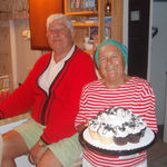 September 2011, Sandy's birthday at her LBI home with her family.