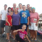 September 2011, Sandy at her beach home in LBI with her family.