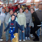 April 2009, Sandy in Busch Gardens Virginia with her family.
