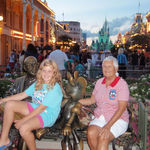 August 2010, Sandy in Disney World with her family.