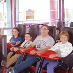 March 2005, Sandy at Busch Gardens Virginia with her family.