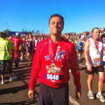 Fred running the Walt Disney World Marathon in 2012
