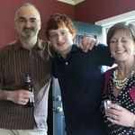 Tom, Matt and Deb at Matt's Graduation party at his house, May 2012