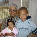 Grand-Nan with her great-grands Camdyn and Jaden