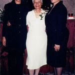 Mercedes with Beverly and Patricia when she accepted the St. Charles Chamber of Commerce Humanitarian award